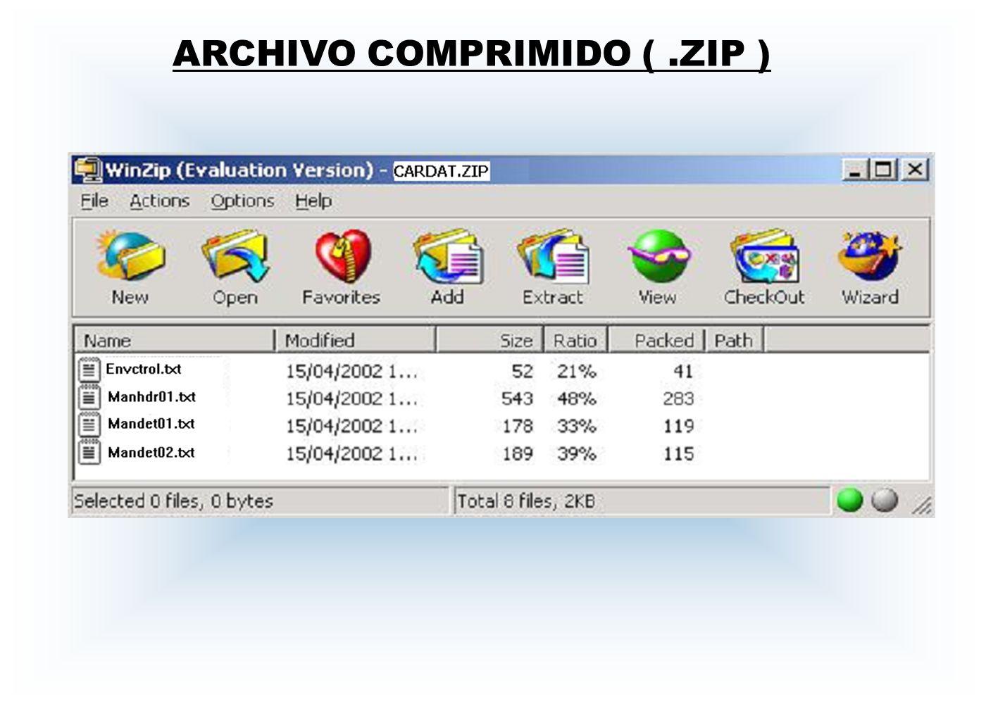 ARCHIVO COMPRIMIDO ( .ZIP )