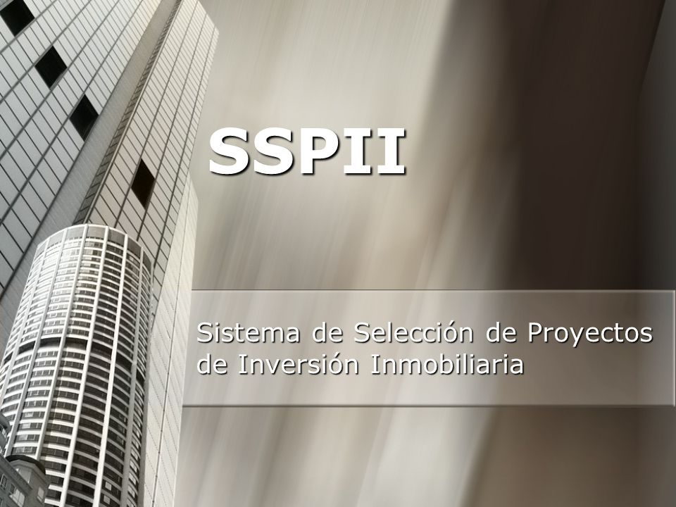 Sistema de Selección de Proyectos de Inversión Inmobiliaria