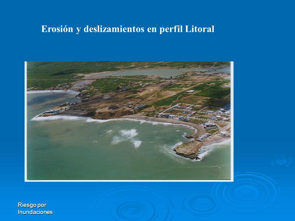 Erosión y deslizamientos en perfil Litoral