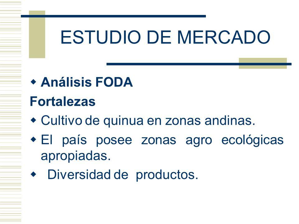 ESTUDIO DE MERCADO Análisis FODA Fortalezas