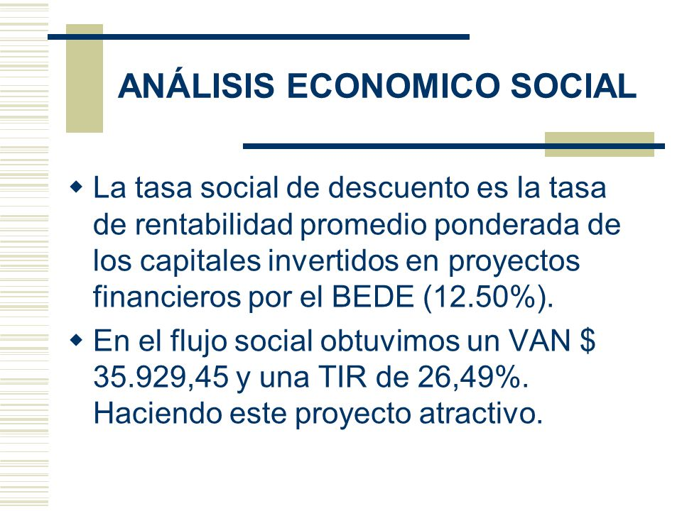 ANÁLISIS ECONOMICO SOCIAL