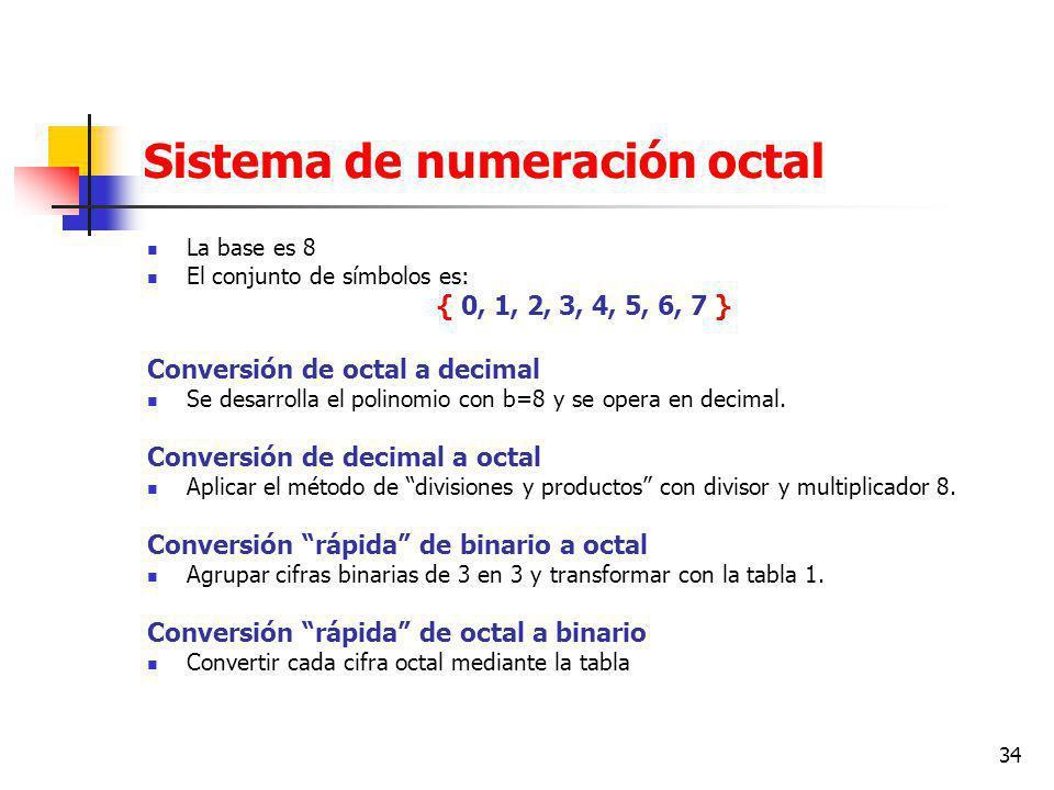 Sistema de numeración octal
