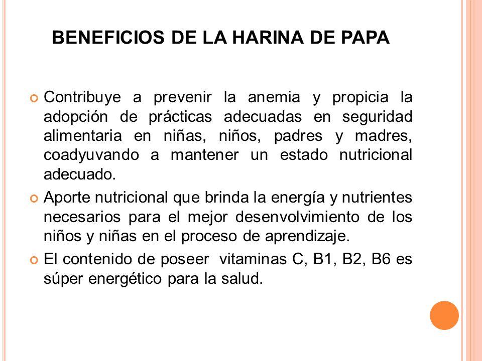 BENEFICIOS DE LA HARINA DE PAPA