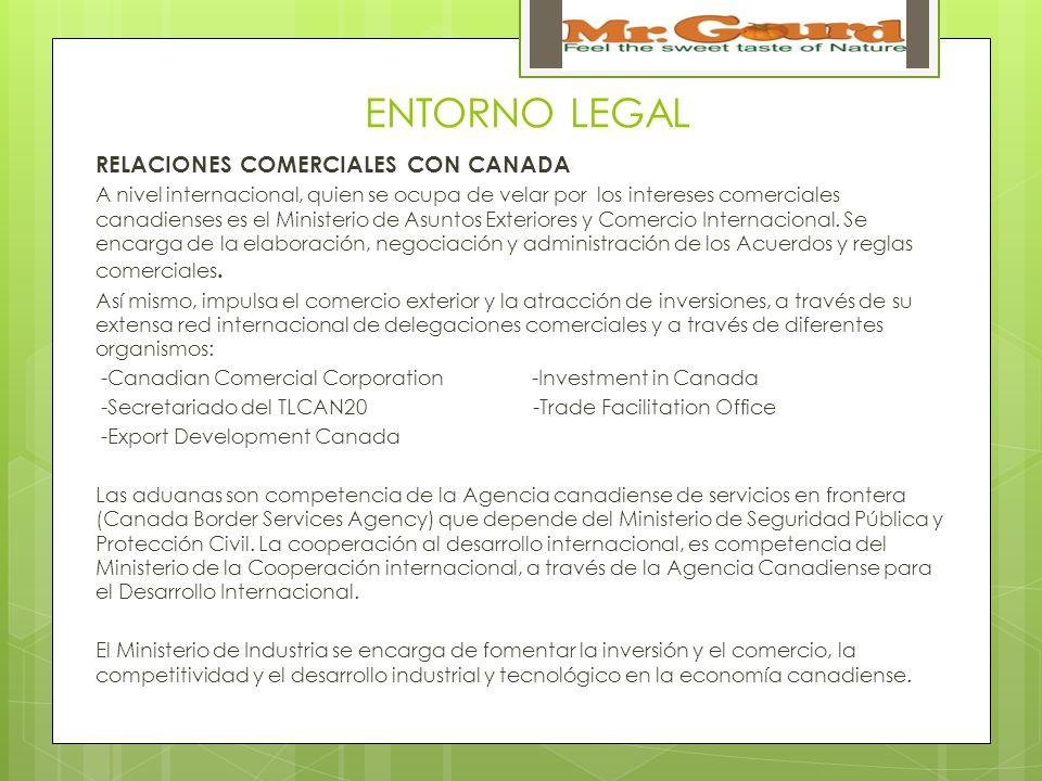 ENTORNO LEGAL RELACIONES COMERCIALES CON CANADA