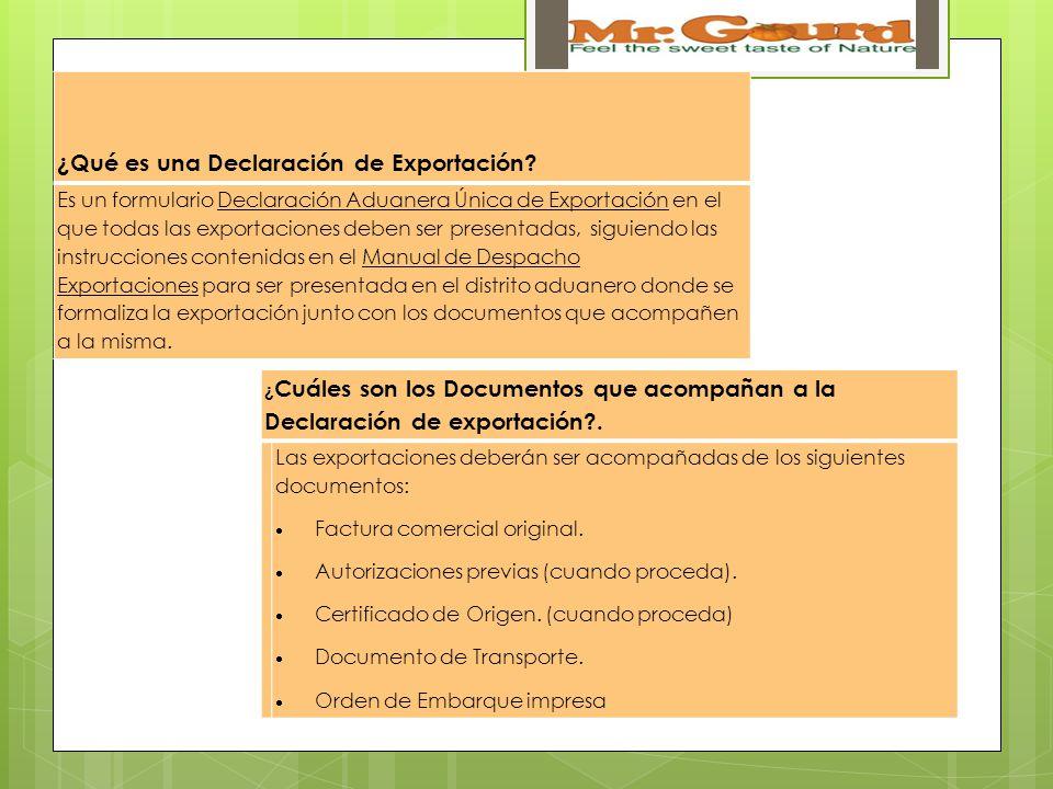 ¿Qué es una Declaración de Exportación