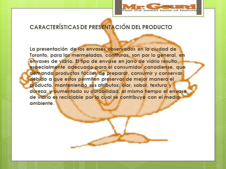 CARACTERÍSTICAS DE PRESENTACIÓN DEL PRODUCTO