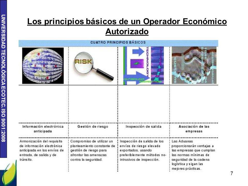 Los principios básicos de un Operador Económico Autorizado