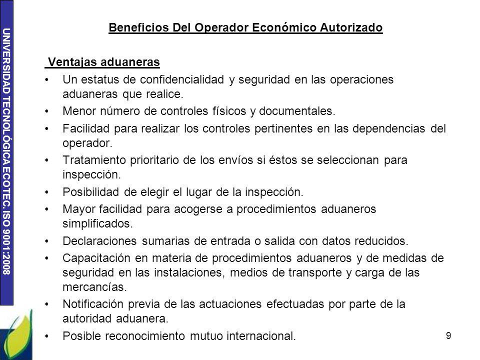 Beneficios Del Operador Económico Autorizado
