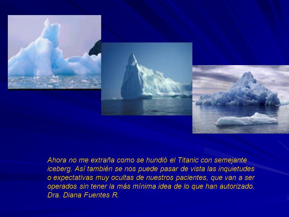 Ahora no me extraña como se hundió el Titanic con semejante iceberg