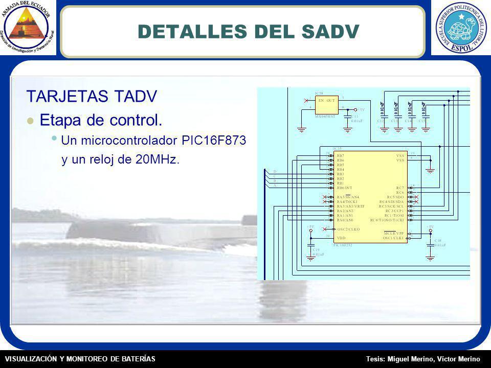 DETALLES DEL SADV TARJETAS TADV Etapa de control.