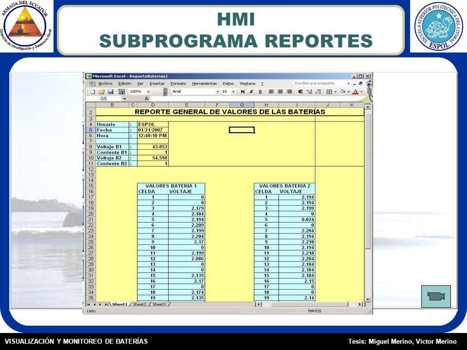 HMI SUBPROGRAMA REPORTES