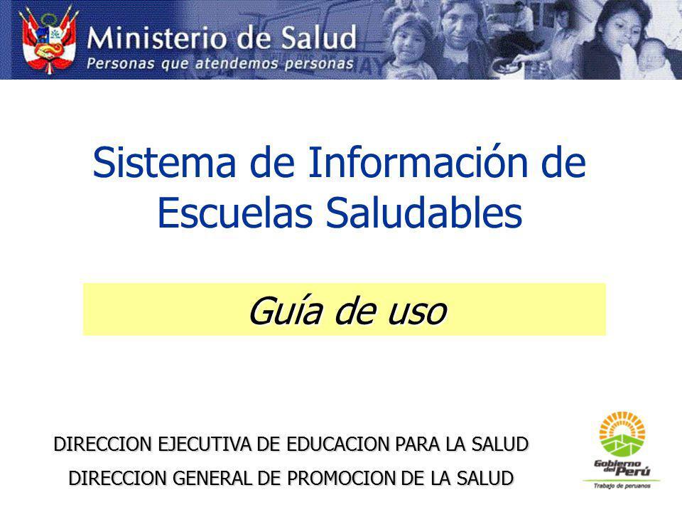 Sistema de Información de Escuelas Saludables
