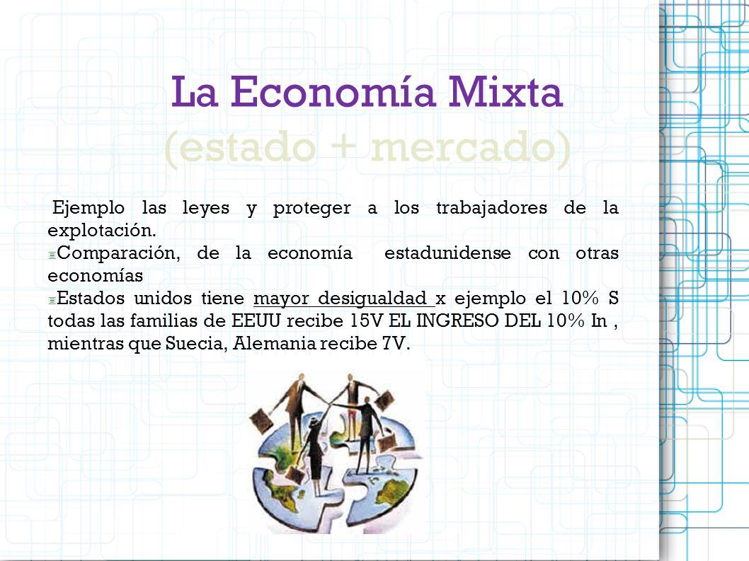 La Economía Mixta (estado + mercado)