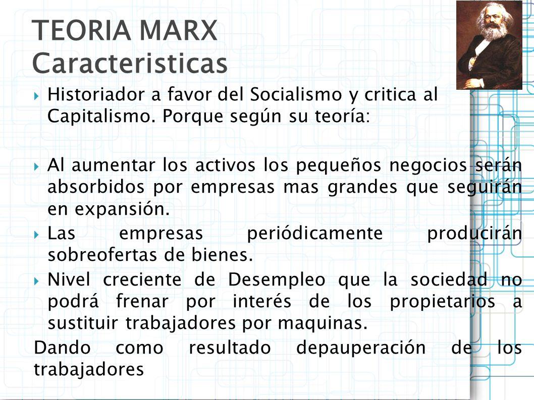 TEORIA MARX Caracteristicas