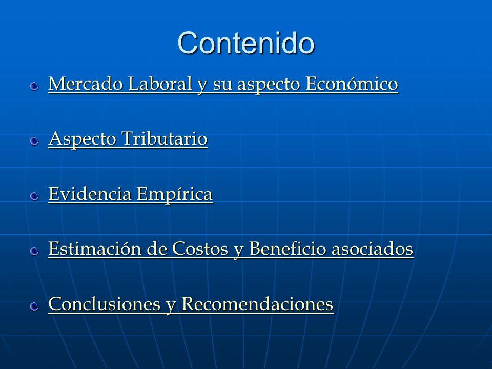 Contenido Mercado Laboral y su aspecto Económico Aspecto Tributario