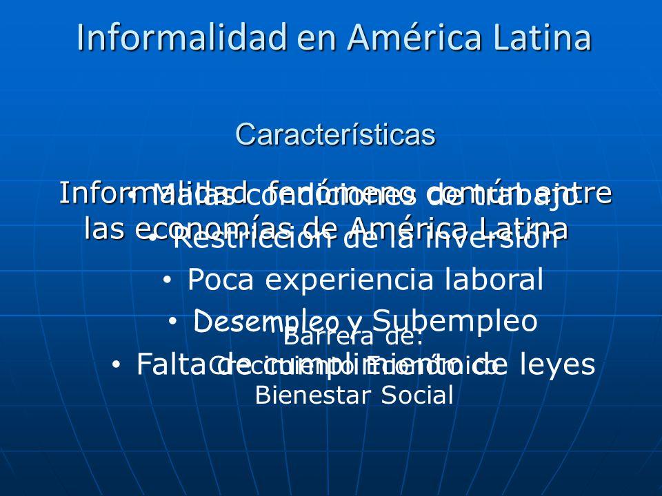 Informalidad en América Latina
