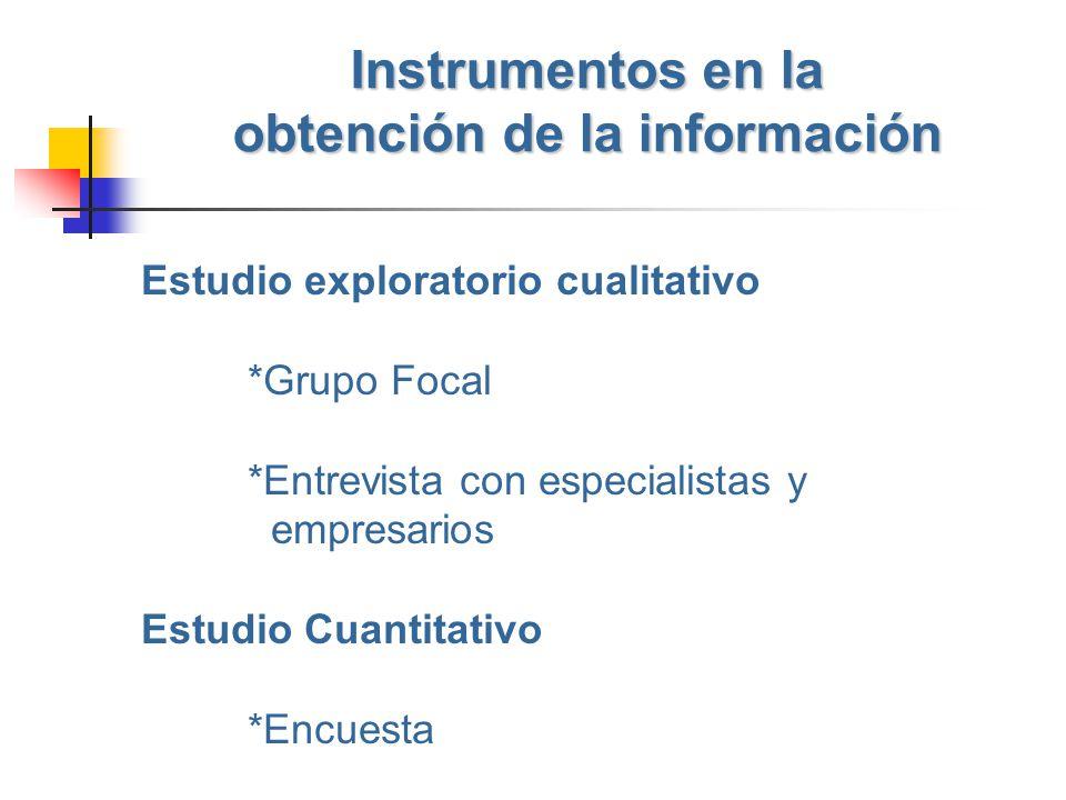 Instrumentos en la obtención de la información