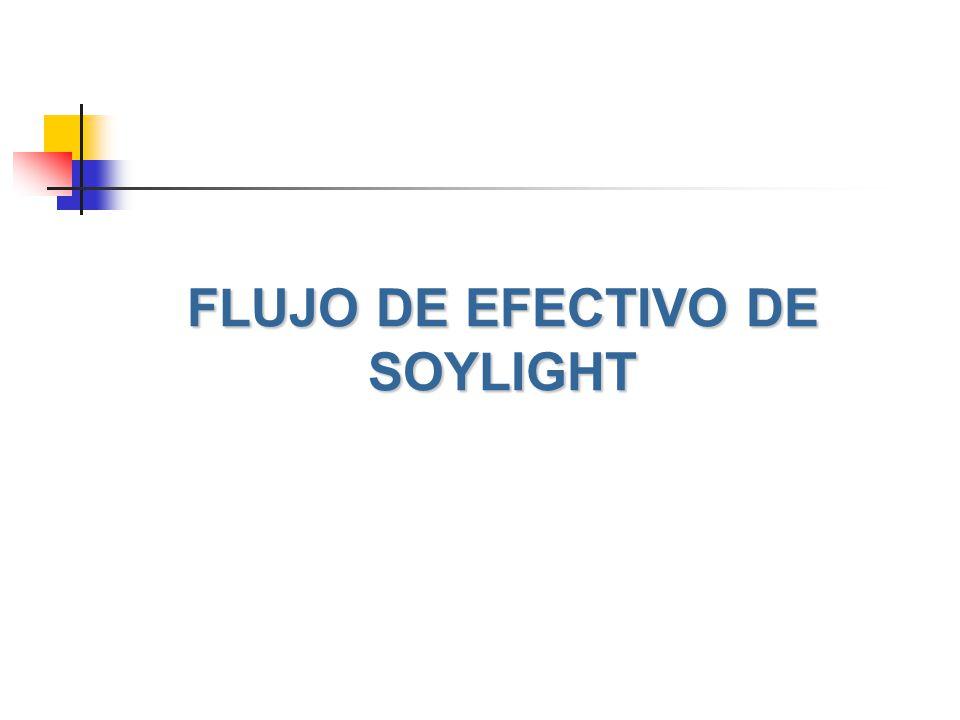 FLUJO DE EFECTIVO DE SOYLIGHT