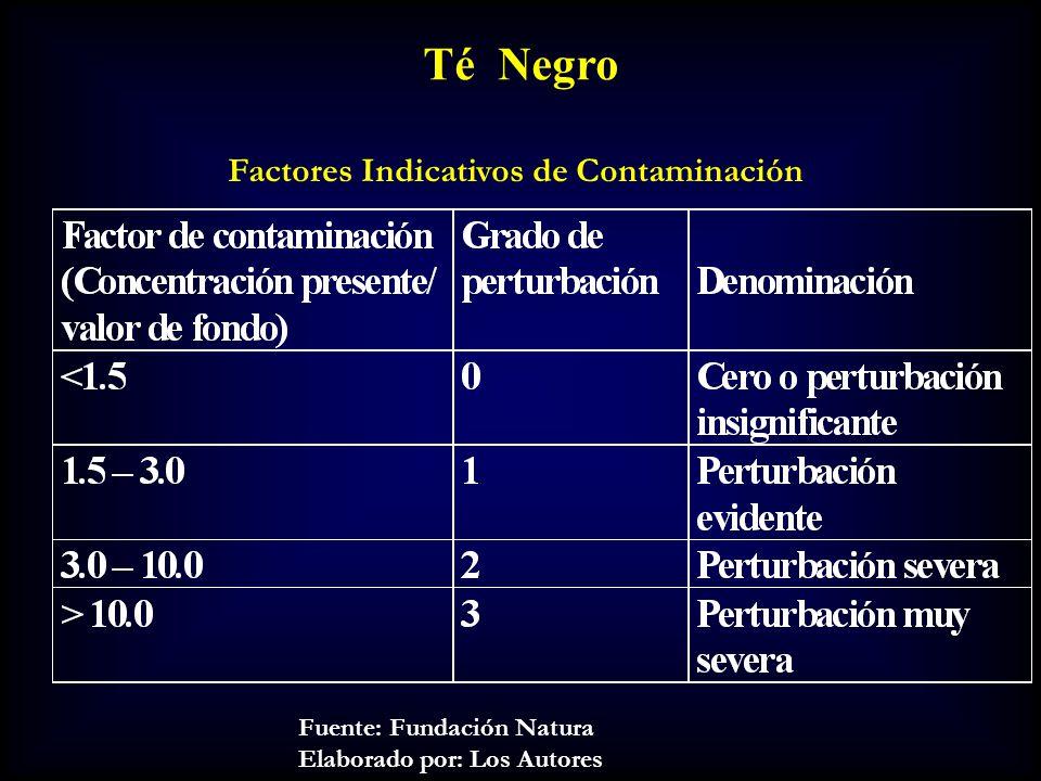 Té Negro Factores Indicativos de Contaminación