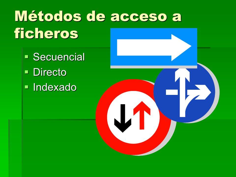 Métodos de acceso a ficheros