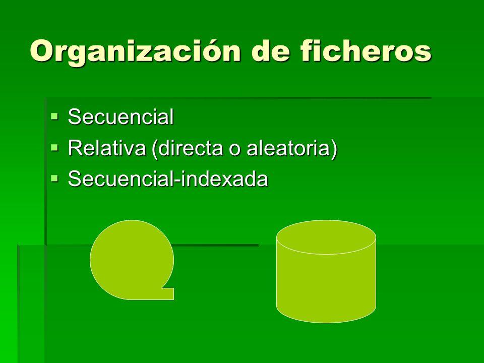 Organización de ficheros