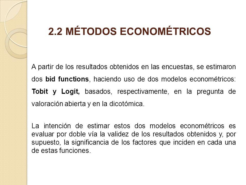 2.2 MÉTODOS ECONOMÉTRICOS