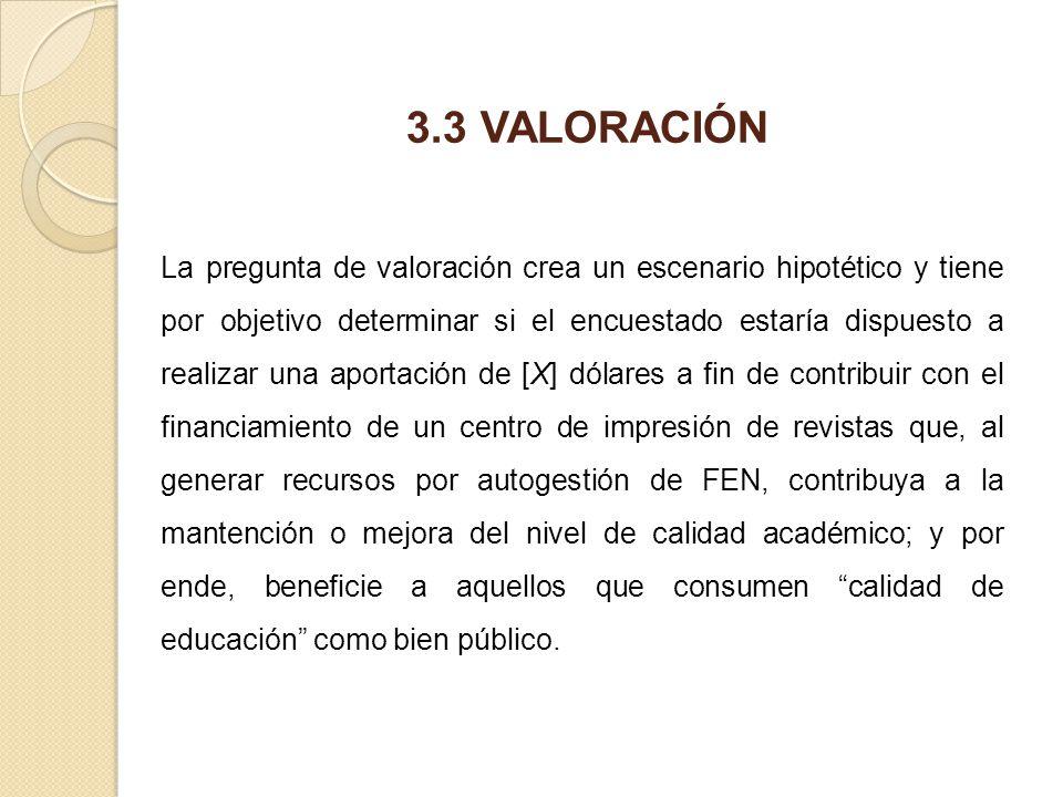 3.3 VALORACIÓN
