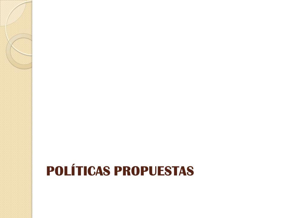 POLÍTICAS PROPUESTAS