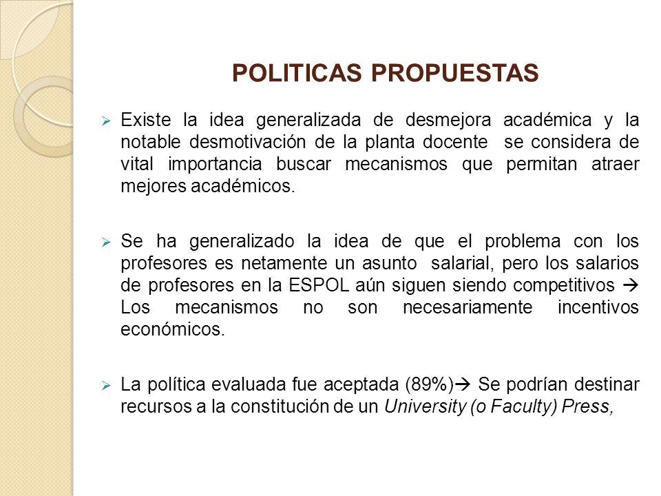 POLITICAS PROPUESTAS