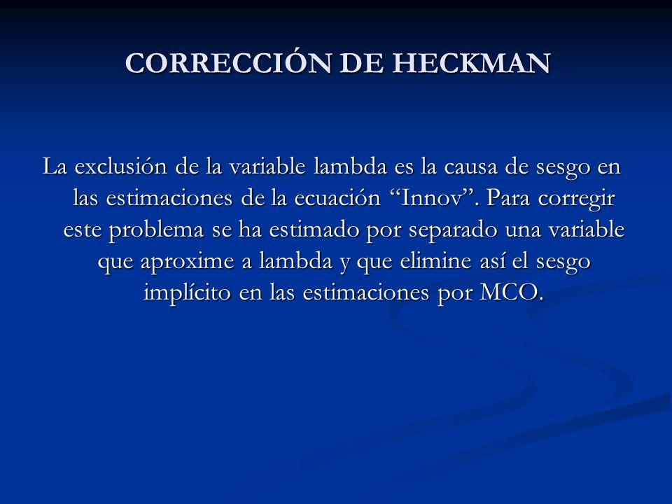 CORRECCIÓN DE HECKMAN