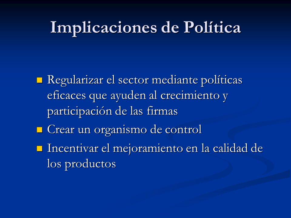 Implicaciones de Política