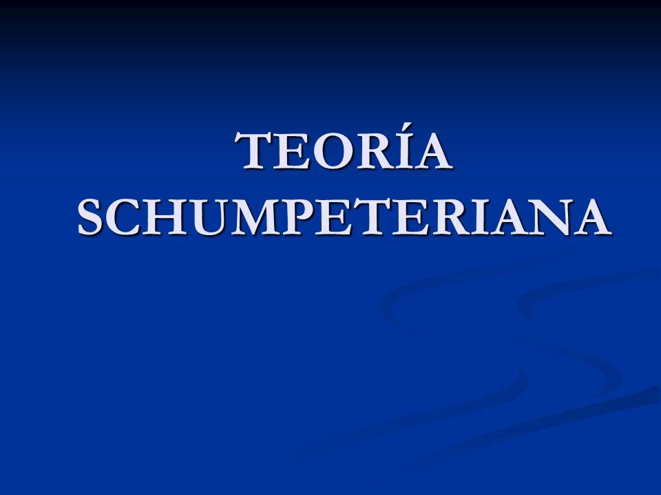 TEORÍA SCHUMPETERIANA