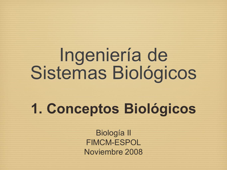 Ingeniería de Sistemas Biológicos