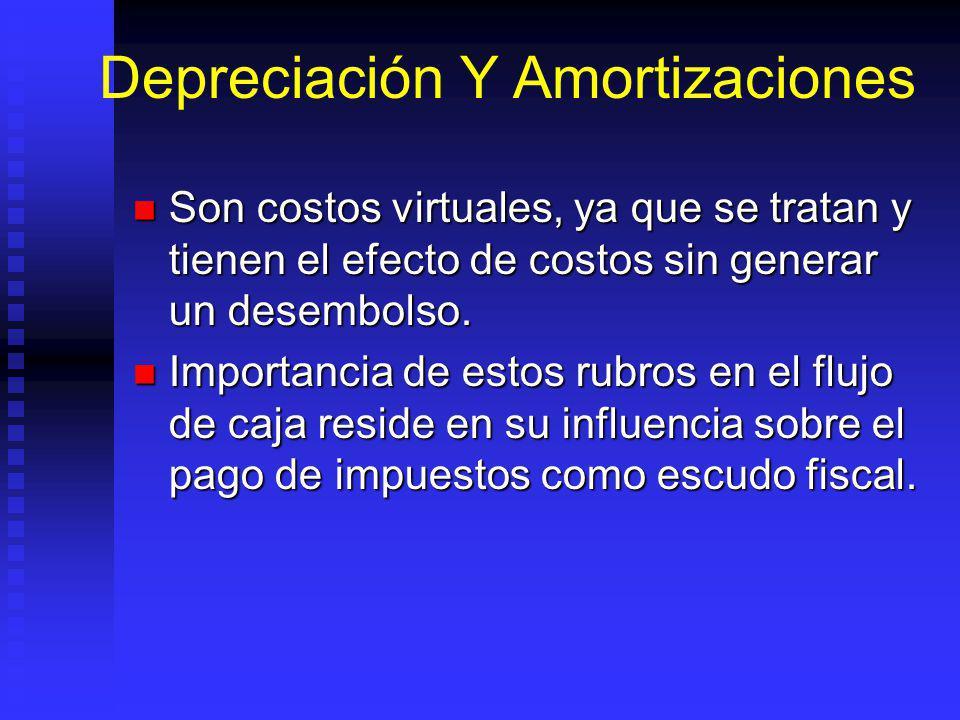 Depreciación Y Amortizaciones