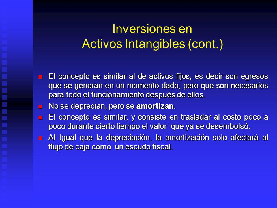 Inversiones en Activos Intangibles (cont.)