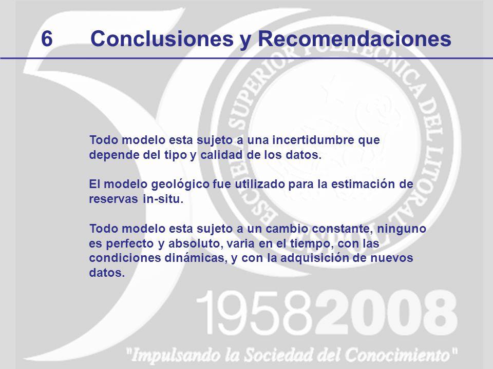 6 Conclusiones y Recomendaciones