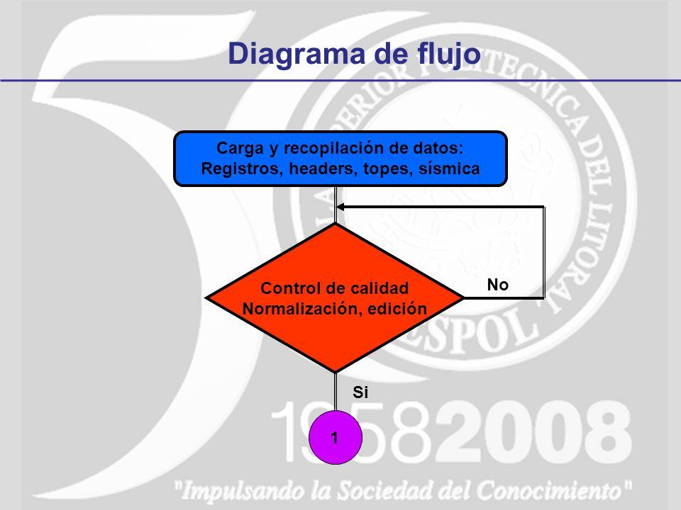 Diagrama de flujo Carga y recopilación de datos: