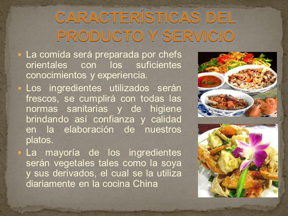 CARACTERÍSTICAS DEL PRODUCTO Y SERVICIO