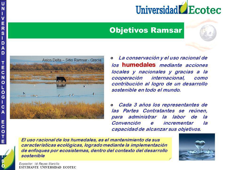 Objetivos Ramsar