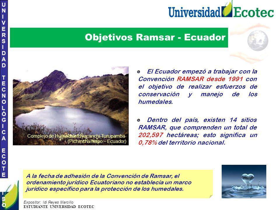 Objetivos Ramsar - Ecuador