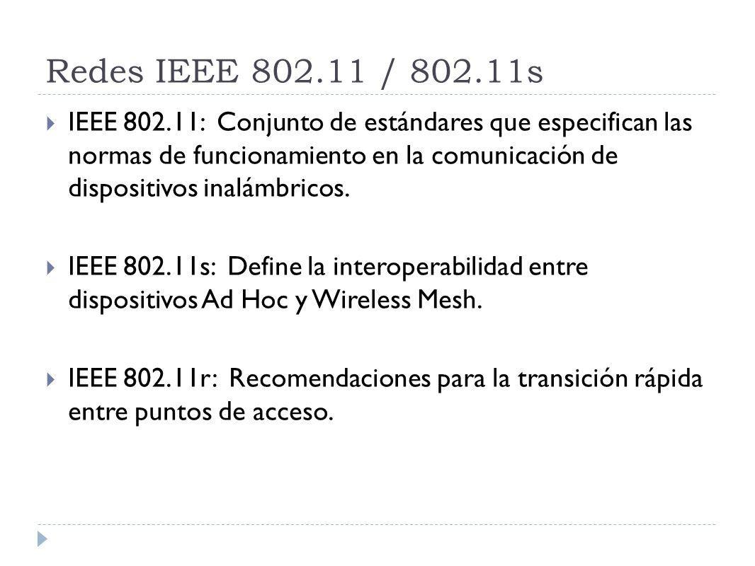 Redes IEEE 802.11 / 802.11s