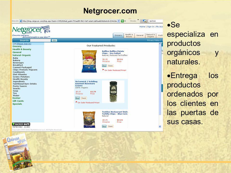 Netgrocer.com Se especializa en productos orgánicos y naturales.