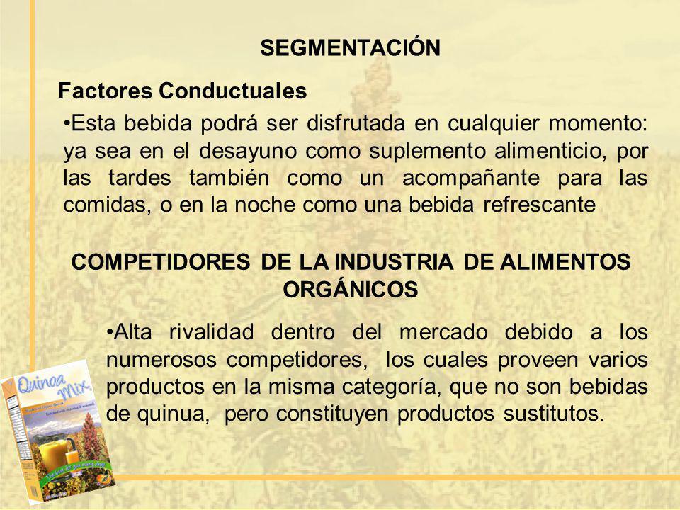 COMPETIDORES DE LA INDUSTRIA DE ALIMENTOS ORGÁNICOS