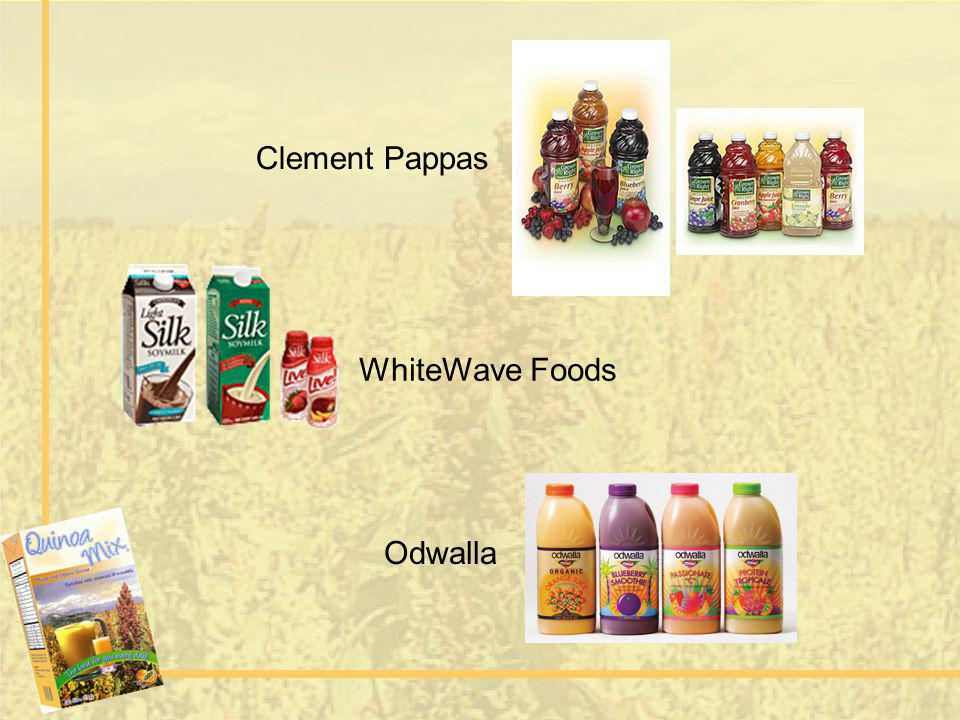 Clement Pappas WhiteWave Foods Odwalla