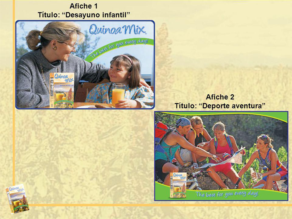 Título: Desayuno infantil Título: Deporte aventura
