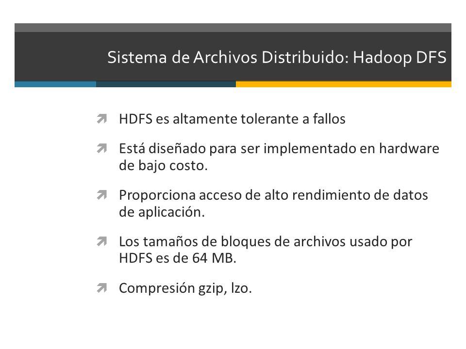 Sistema de Archivos Distribuido: Hadoop DFS