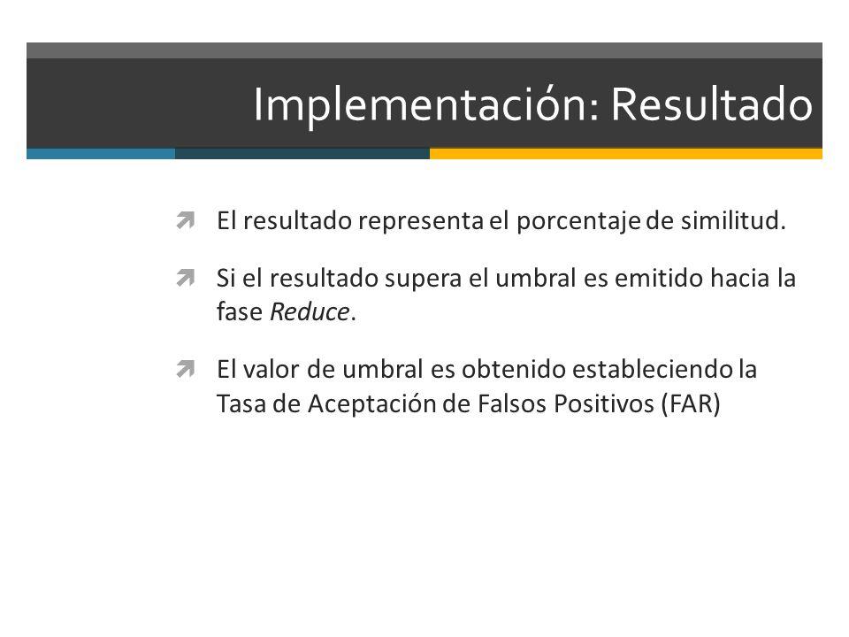 Implementación: Resultado