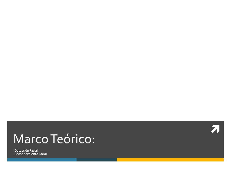 Marco Teórico: Detección Facial Reconocimiento Facial