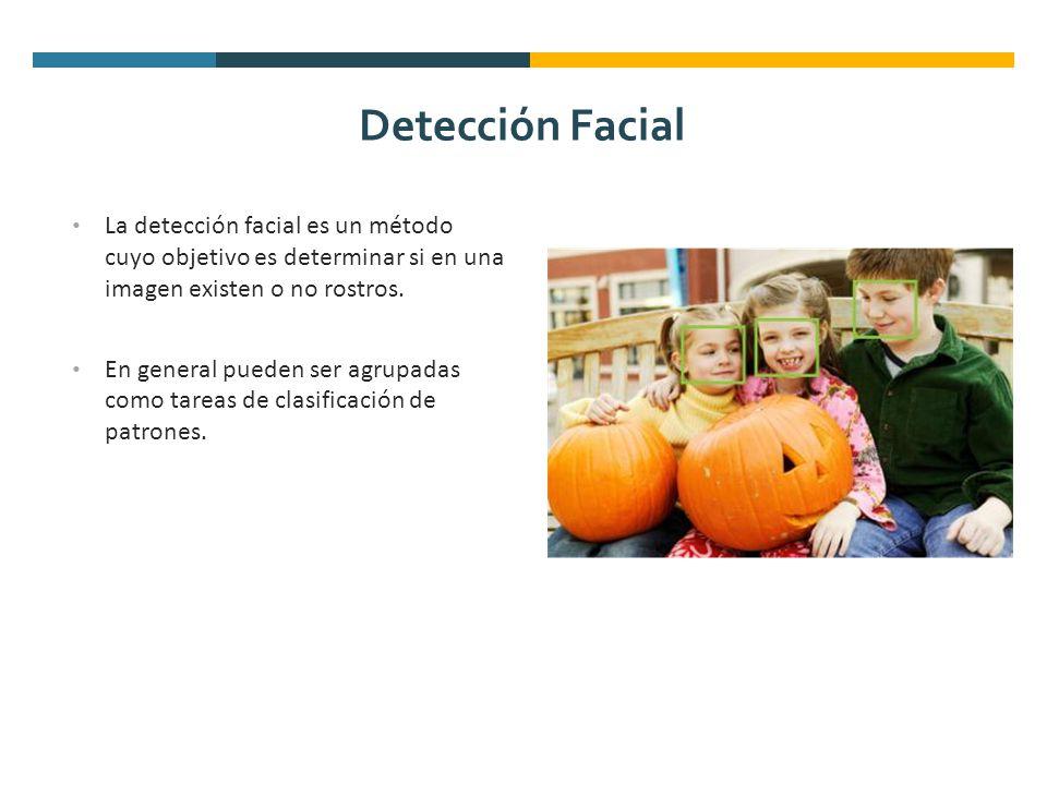 Detección Facial La detección facial es un método cuyo objetivo es determinar si en una imagen existen o no rostros.