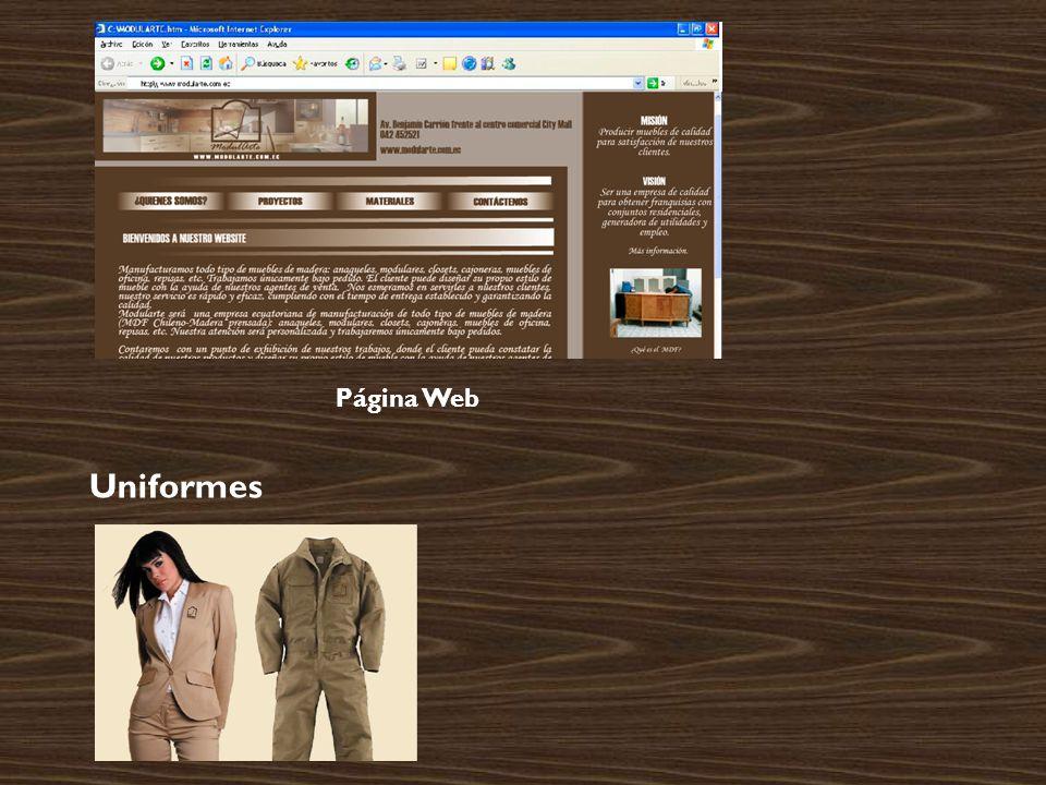 Página Web Uniformes